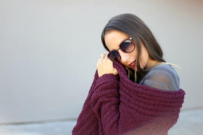 maglione rosso bordeaux