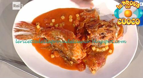 Scorfano con pomodori capperi e olive ricetta Pascucci da Prova del Cuoco