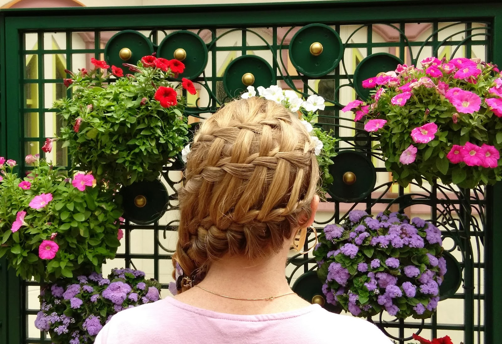 Braids Hairstyles For Super Long Hair Flower Basket Hairstyle