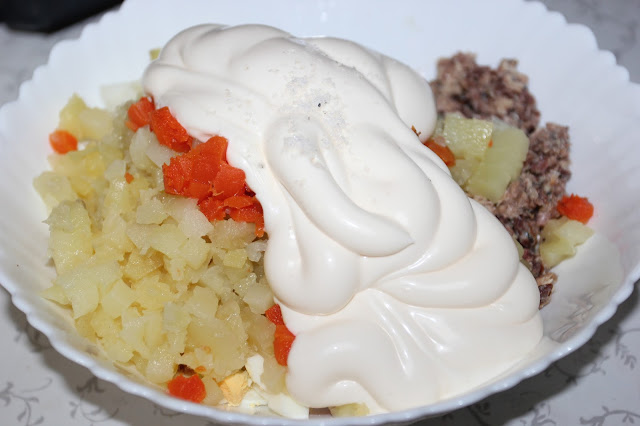 рецепт рыбного салата с пошаговыми фото