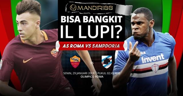 Prediksi AS Roma Vs Sampdoria , Senin 28 January 2018 Pukul 02.45 WIB