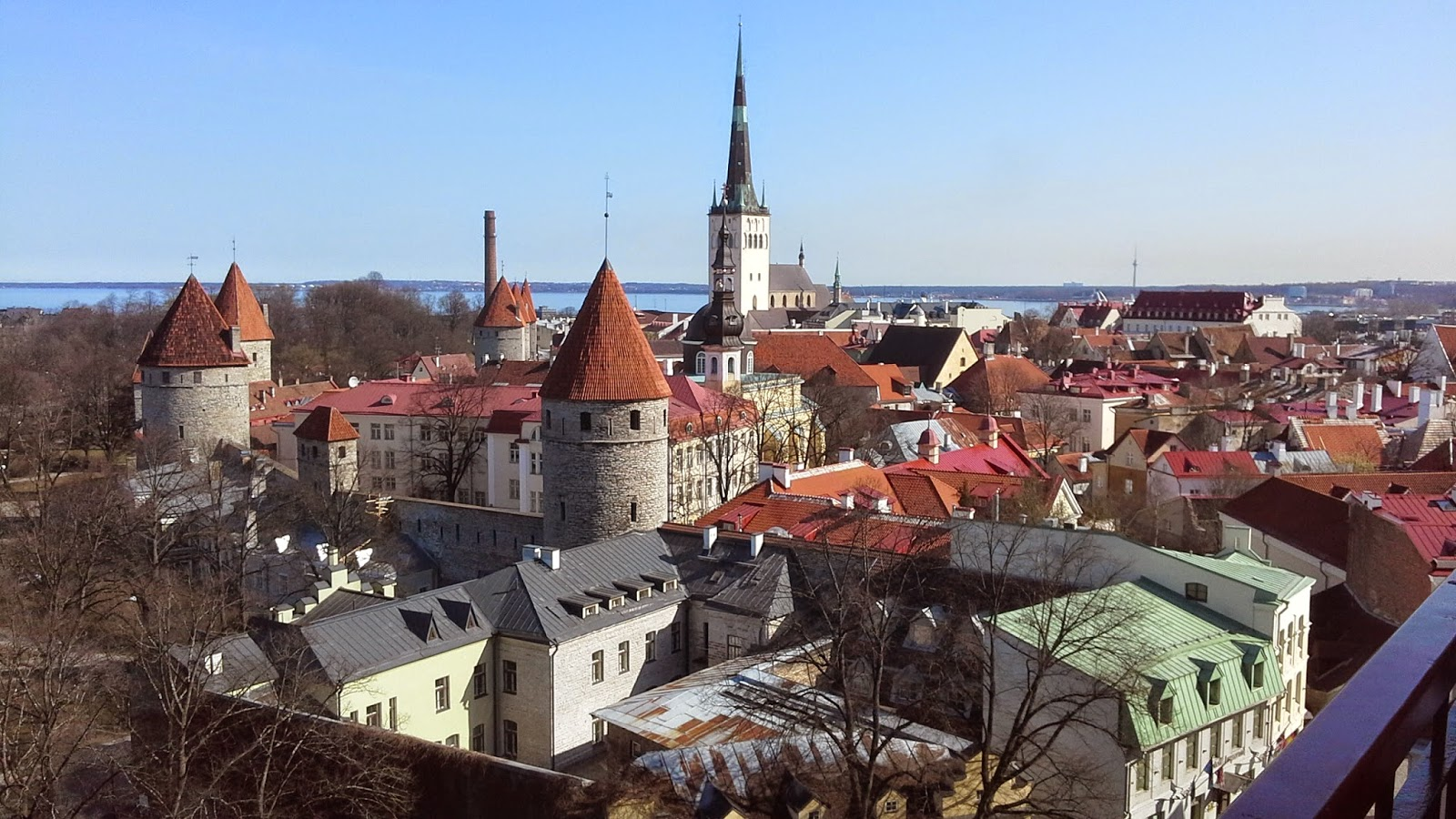 Tallinn old town from Toompea - photo Robert Hugill
