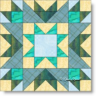 San Diego quilt block image © Wendy Russell
