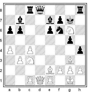 Posición de la partida de ajedrez Korchnoi - Greenfeld (Beer Sheva, 1992)
