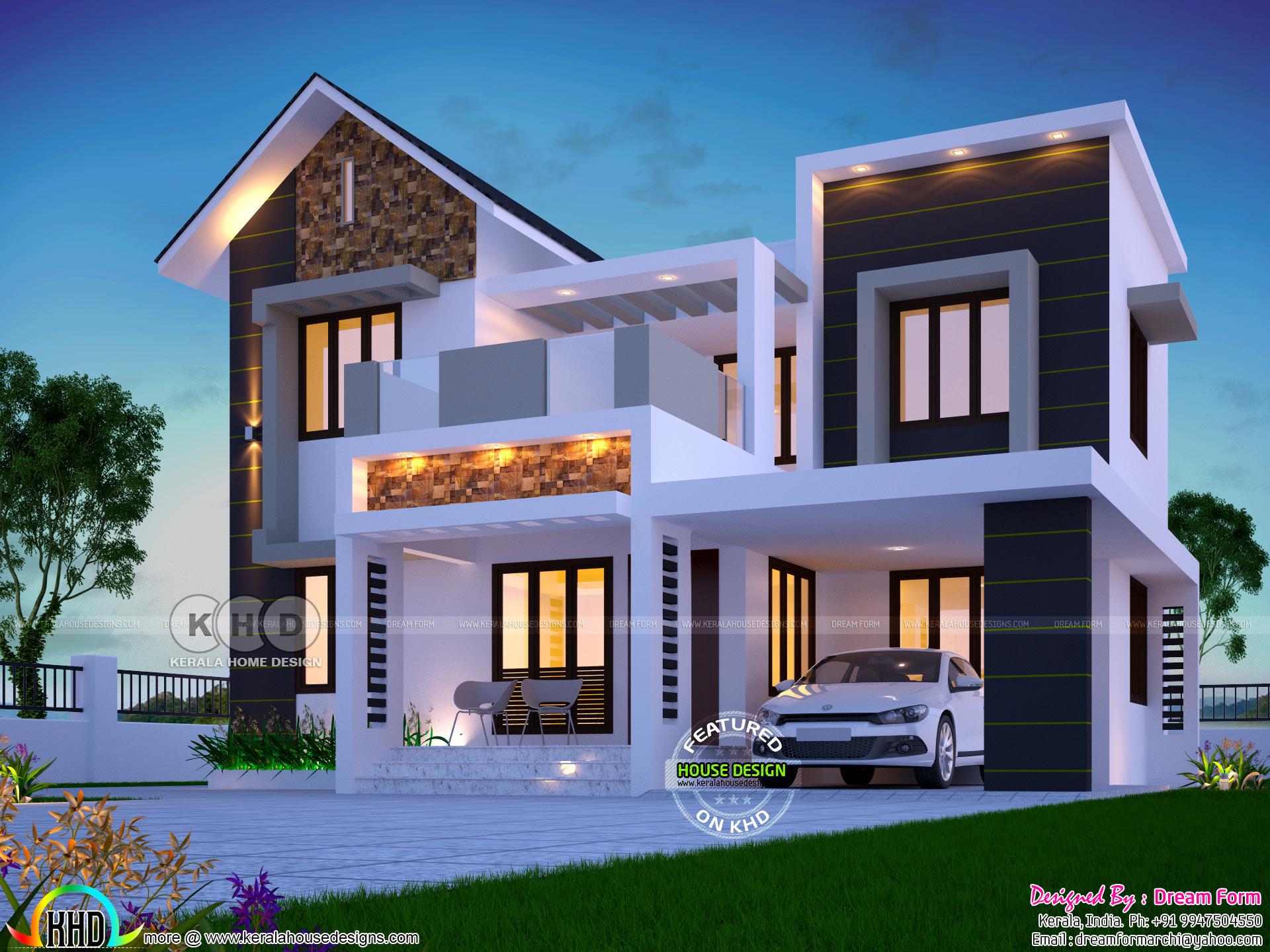 1626 Square Feet Awesome Kerala Modern Home Kerala Home
