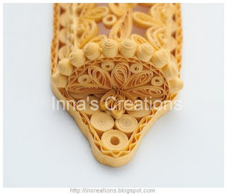 Quilled Mezuzah case, detail