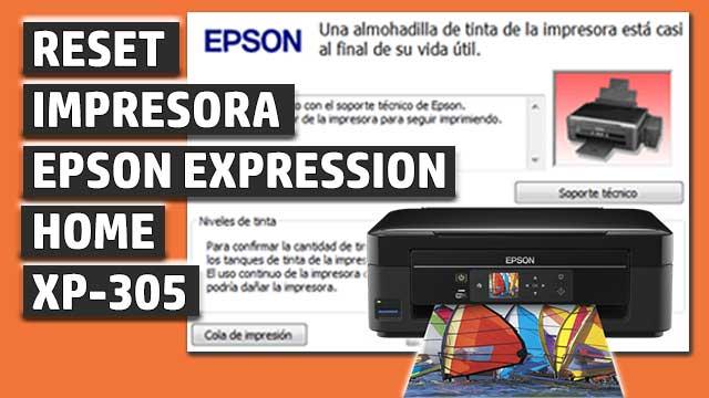 Reset impresora EPSON Expression Home XP-305
