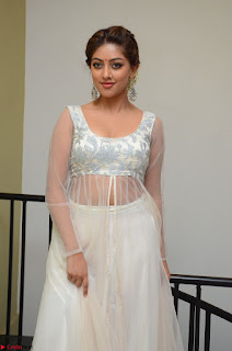 Anu Emmanuel in a Transparent White Choli Cream Ghagra Stunning Pics 126.JPG