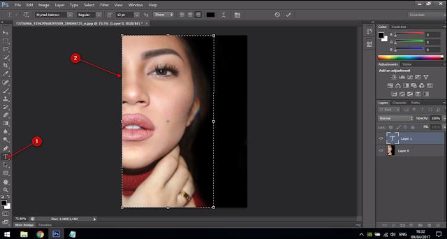 Cara Membuat Text Portrait Pada Wajah (Typography) 7