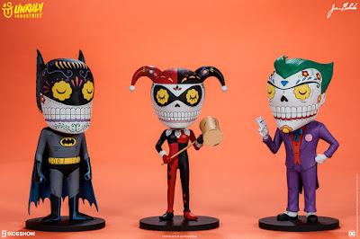 Batman Calavera Vinyl Figures by Jose Pulido x Unruly Industries x DC Comics