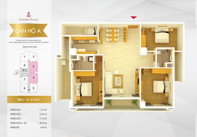 Mặt bằng thiết kế căn hộ căn số 5-10