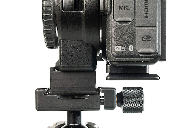 Hejnar D044 and D045 QR plates on Nikon Z mirrorless camera side view III