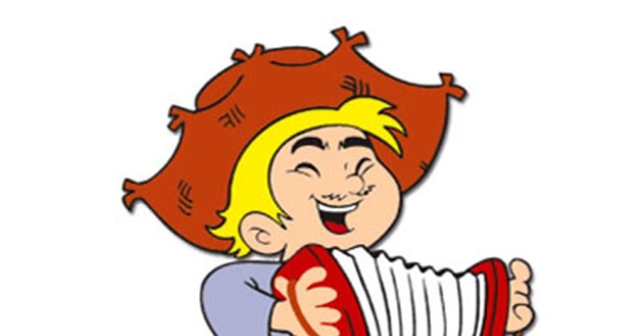 Desenholandia Figura De Menino Crianca Tocando Sanfona Colorida