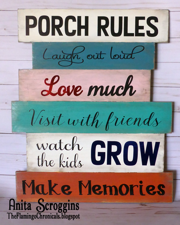 Rustic porch sign