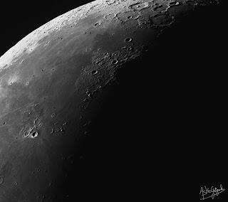 Le dernier quartier de Lune en vue rapprochée