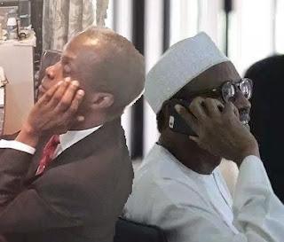 Buhari Osinbajo on phone call