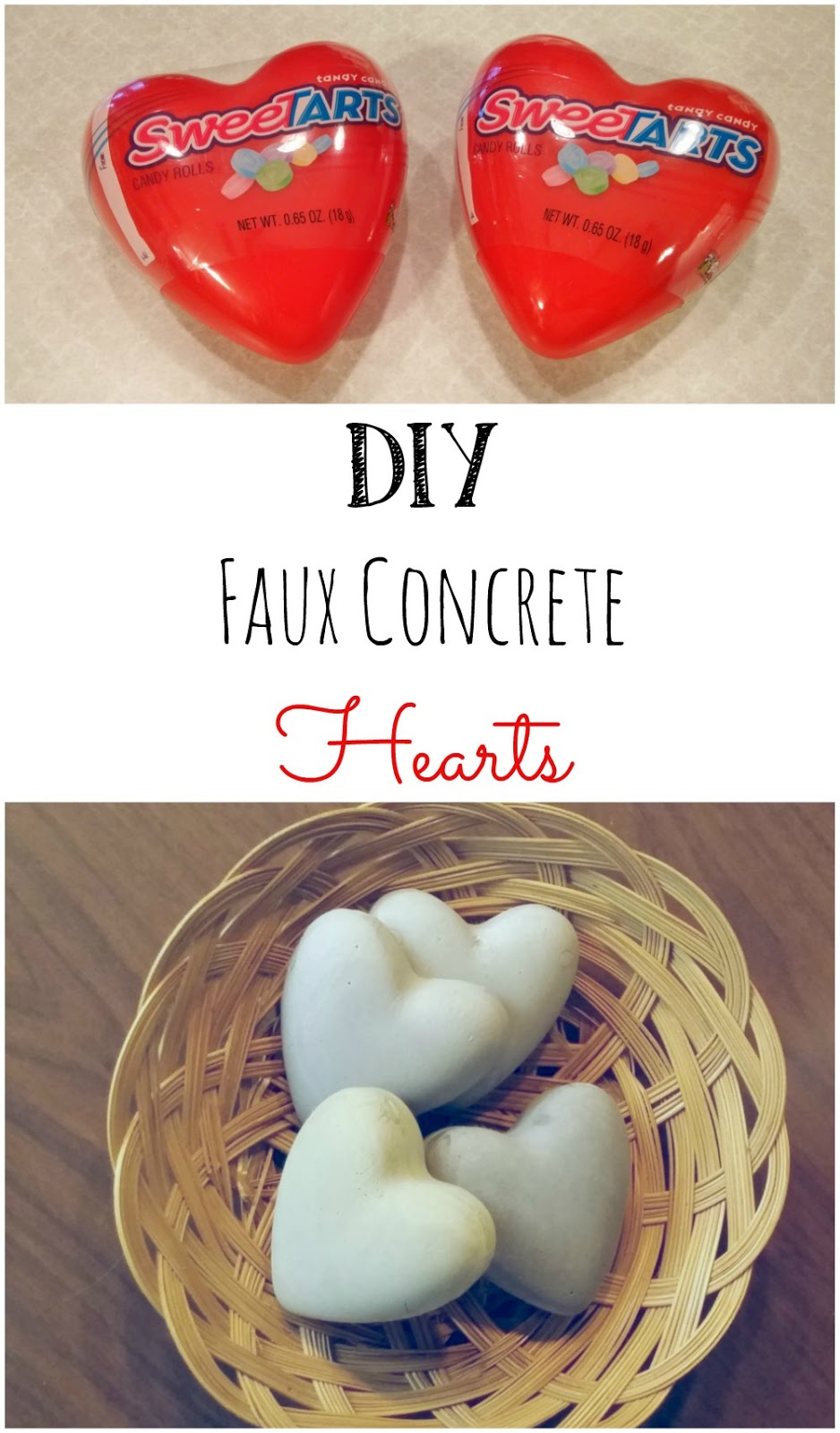 How to make faux concrete hearts with Plaster of Paris!