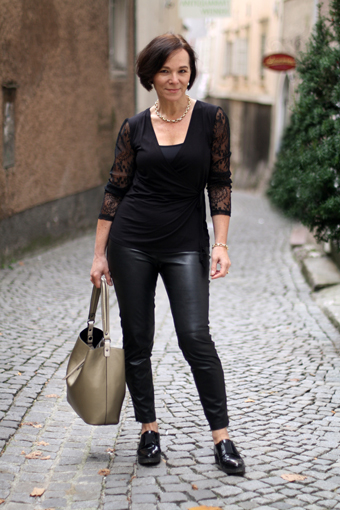 how to wear faux leather leggings over 50 my personal top 25 versatile looks lady of style. Black Bedroom Furniture Sets. Home Design Ideas