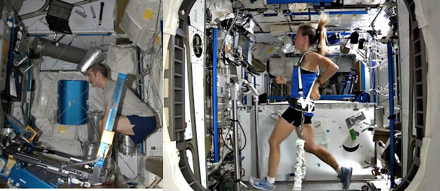 Cómo se ejercitan los astronautas en el espacio