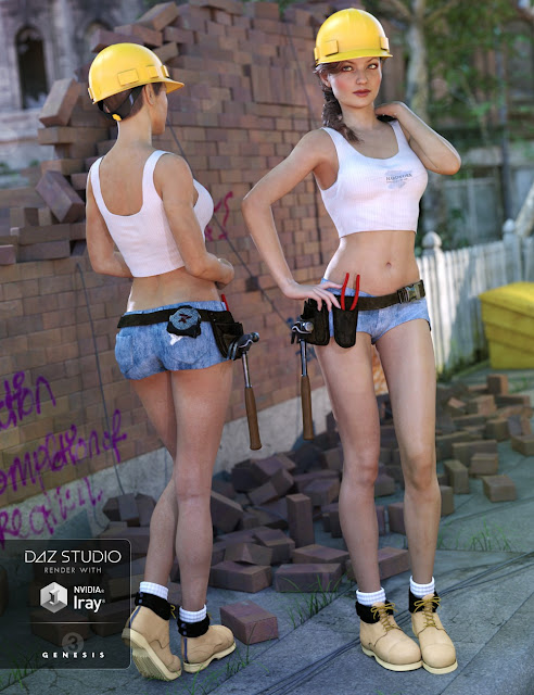 Tool Girl for Genesis 3 Female
