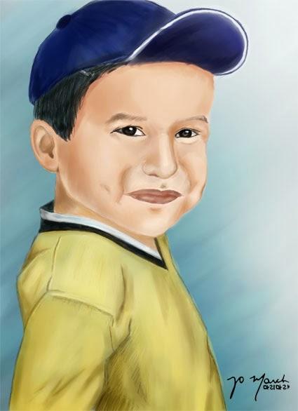 Retrato ilustrado con Paint Tool Sai