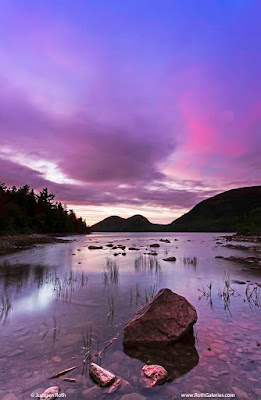 Maine Jordan Pond sunset photos