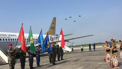 Pawai Bendera Merah Putih HUT ke-73 TNI Tiba Yogyakarta