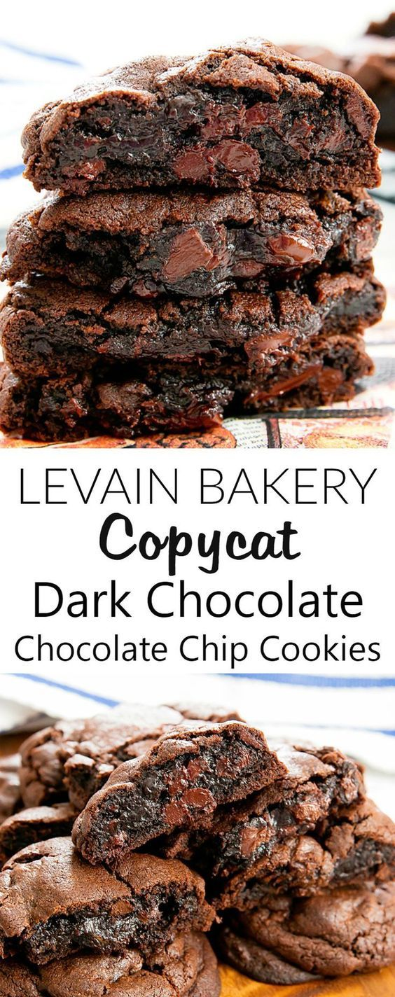 Copycat Levain Bakery Dark Chocolate Chocolate Chip Cookies Recipe