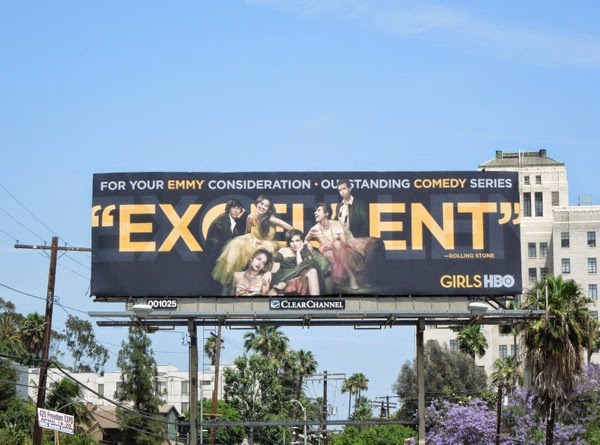 Girls Excellent HBO Emmy 2014 billboard