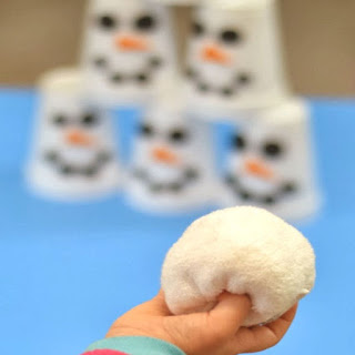 SNOWMAN SLAM! Easy to make game for kids #winterparty #winterpartyideasforkids #partygames #snowmancrafts #snowmanslamgame #snowplay #snowman #snowmanslam