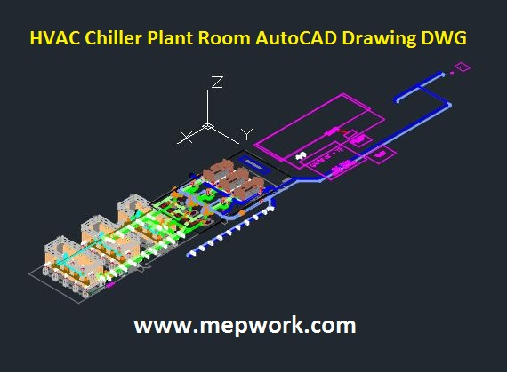 autocad hvac drawings pictures hvac chiller plant room autocad drawing dwg  hvac chiller plant room autocad drawing dwg