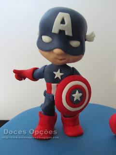 capitao america bolos aniversário crianças