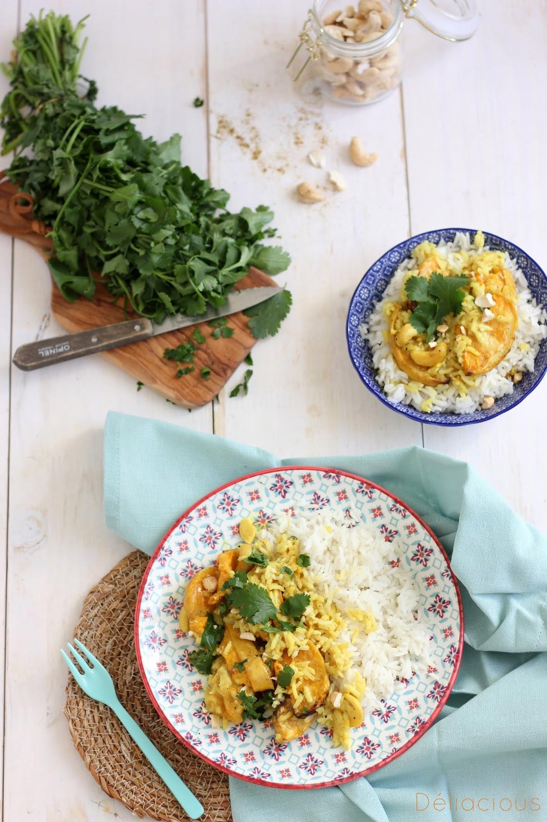 Curry à la courge butternut, recette simplifiée
