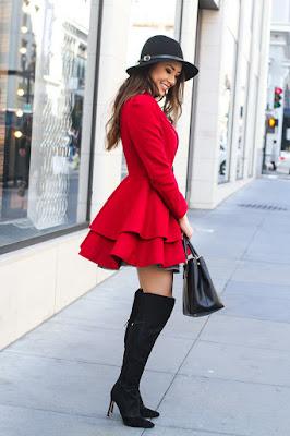 botas negras para vestido