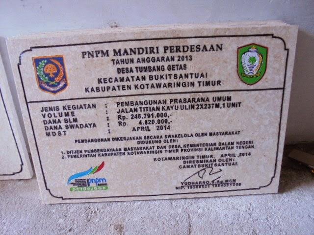 Batu Prasasti Peresmian PNPM Murah