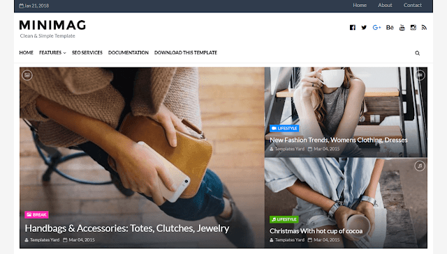 Minimag Clean Blogger Template