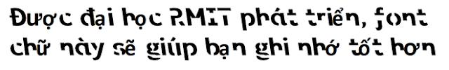 Tưởng rằng không hoàn thiện nhưng font chữ đầy nét đứt này lại giúp bạn ghi nhớ tốt hơn