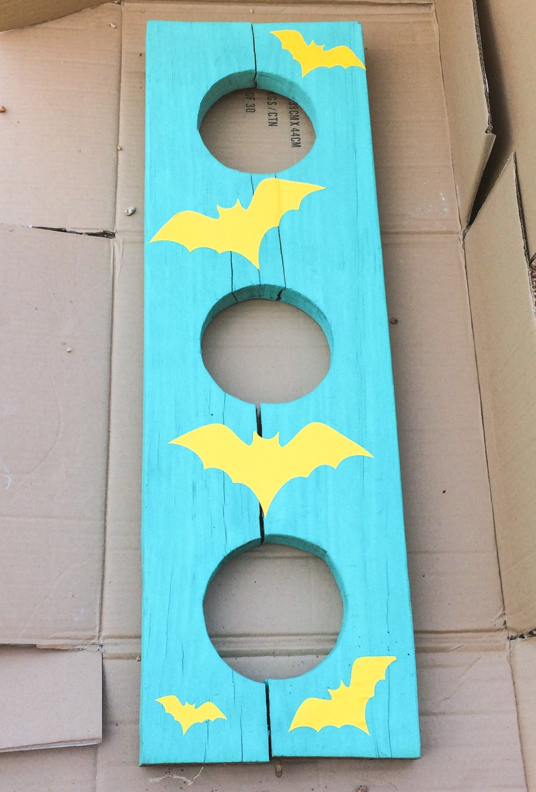 Phenomenal Diy It Halloween Bean Bag Toss A Kailo Chic Life Onthecornerstone Fun Painted Chair Ideas Images Onthecornerstoneorg