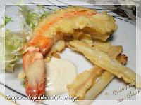 http://gourmandesansgluten.blogspot.fr/2016/04/tempura-de-gambas-et-dasperges.html