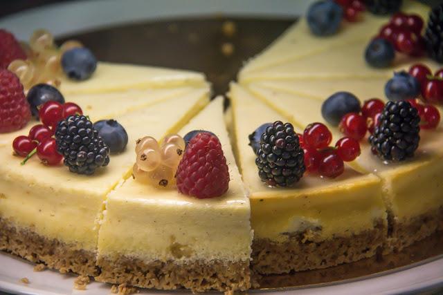 Gâteau au Flan et Fruits Rouges