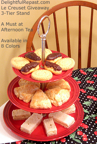 Afternoon Tea Party Tips - Le Creuset Giveaway - 3-Tier Stand / www.delightfulrepast.com