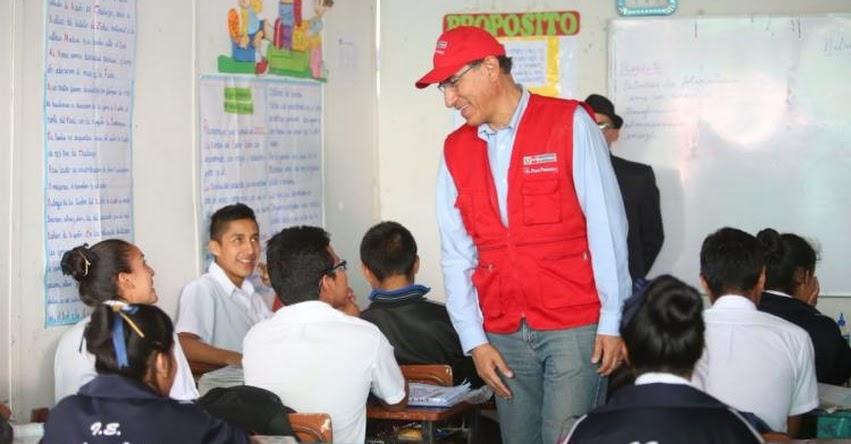 Con la educación cambiaremos la historia del Perú, afirma presidente Martín Vizcarra
