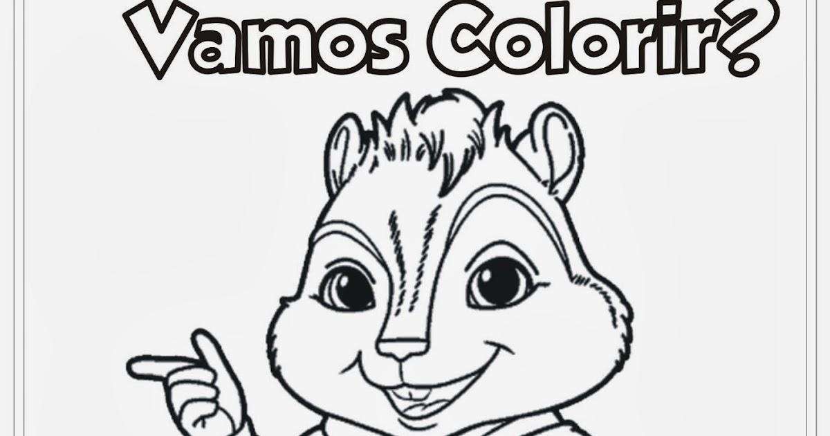 Desenho Alvin E Os Esquilos Para Colorir