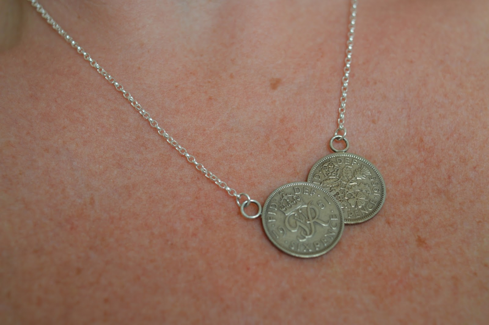 Lucky Sixpence Double Coin Necklace
