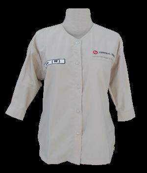 model baju seragam kerja warna putih