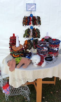 Scrunchie Neck Ruffle display
