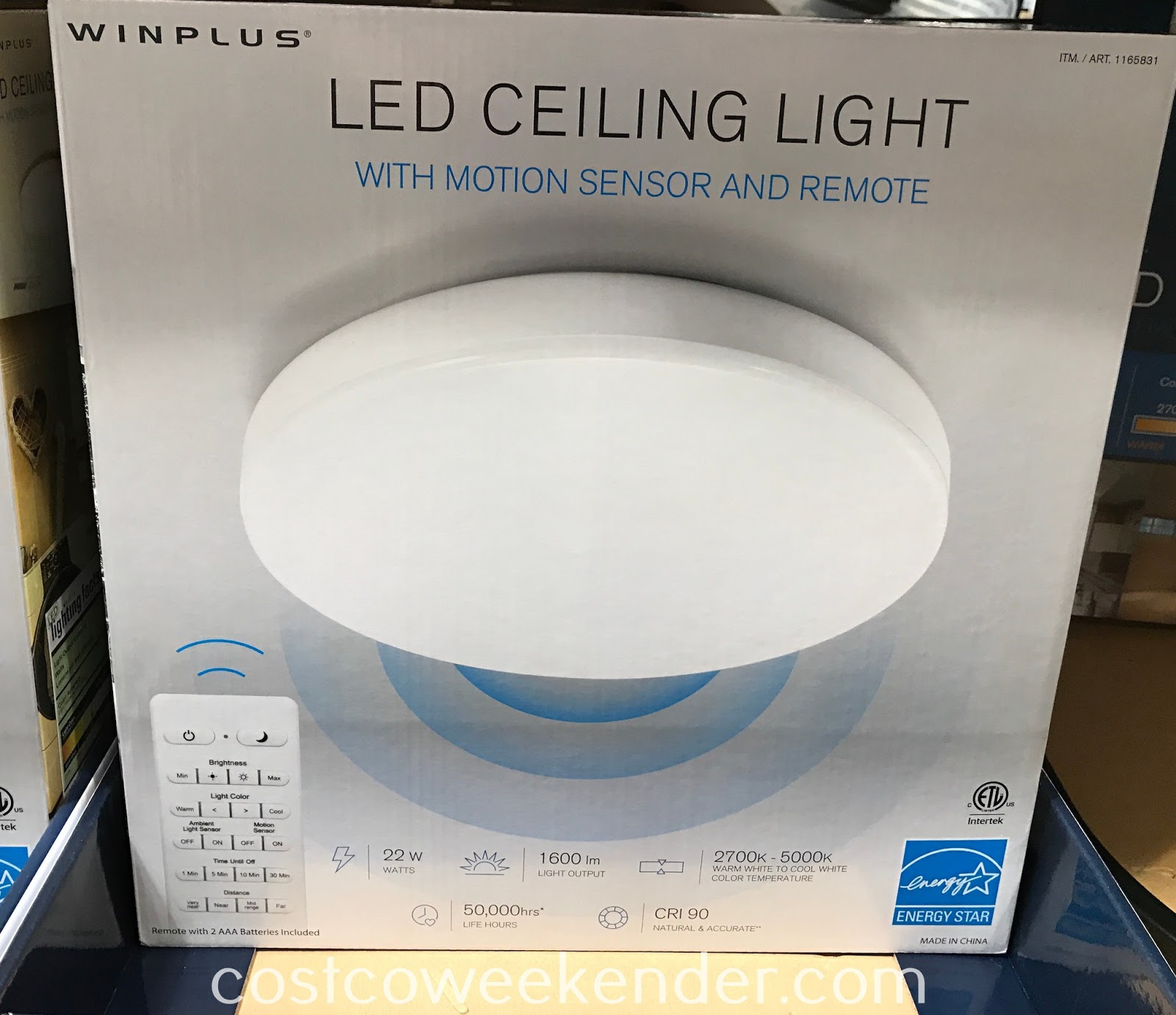 Ensure your home is well lit with the Winplus LED Ceiling Light with Motion Sensor and Remote
