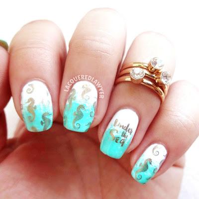 Seahorse Serenity Nails