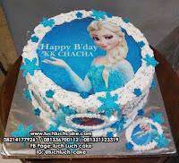 Kue Tart Edible Foto Frozen Elsa