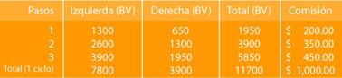 Comisiones por equipos de trabajo (sistema binario)